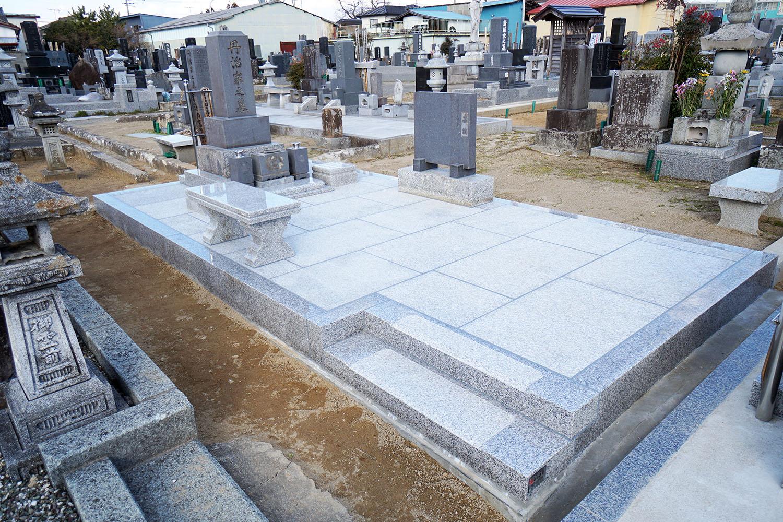 墓地のリフォーム工事